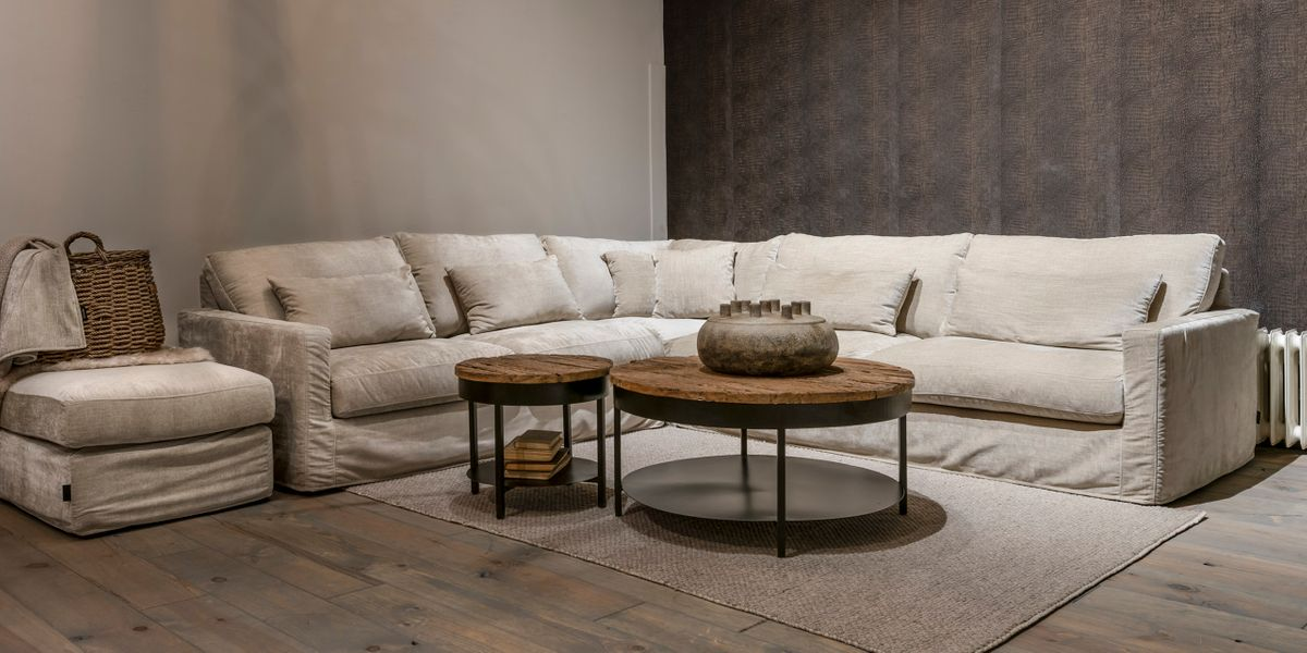 UrbanSofa Cambridge Casia Hoekbank Belize Sand